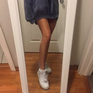 7.5 White high top Nike Air Force sneakers